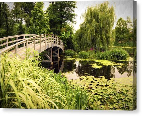 Bridge At Petersburg Canvas Print