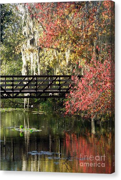 Bridge At Sawgrass Lake Park Canvas Print