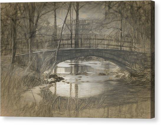Bridge At The Fens Canvas Print