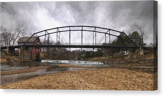 Bridge At The Mill Canvas Print