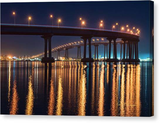 Canvas Print featuring the photograph Bridge Bedazzled by Dan McGeorge