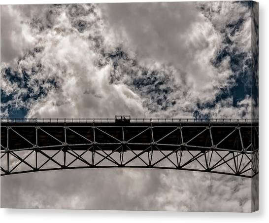 Bridge From Below Canvas Print