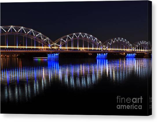 Bridge In Riga  Canvas Print