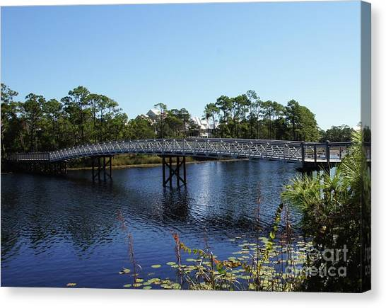 Canvas Print - Western Lake Bridge by Megan Cohen