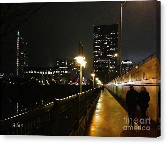 Bridge Into The Night Canvas Print