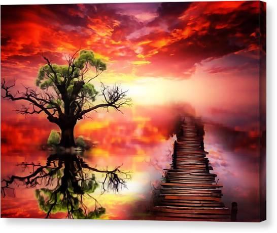 Bridge Into The Unknown Canvas Print