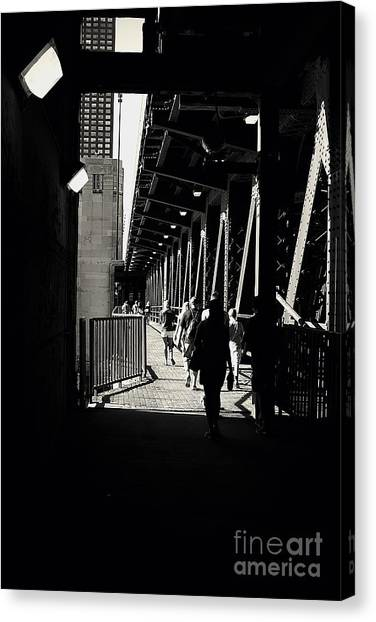 Bridge - Lower Lake Shore Drive At Navy Pier Chicago. Canvas Print