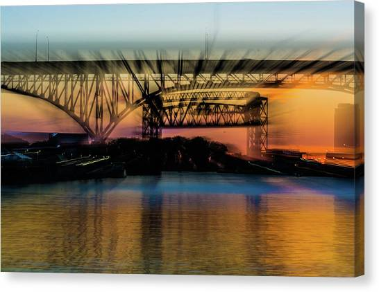 Bridge Motion Canvas Print