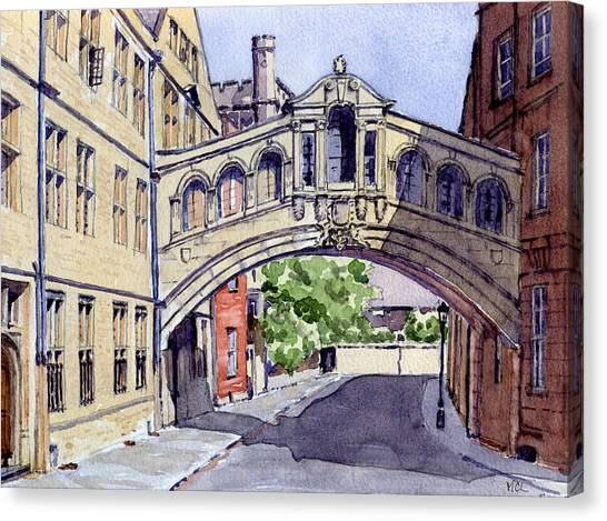 Academic Art Canvas Print - Bridge Of Sighs. Hertford College Oxford by Mike Lester