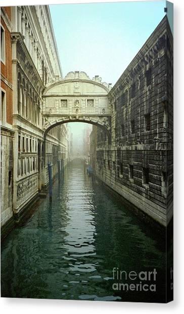 Bridge Of Sighs In Venice Canvas Print by Michael Henderson