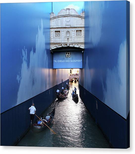 Bridge Of Sighs Wrapped In Blue Canvas Print