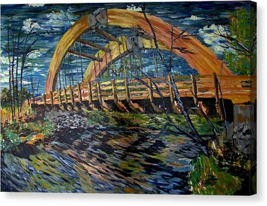 Bridge On County Rd. 27 Canvas Print