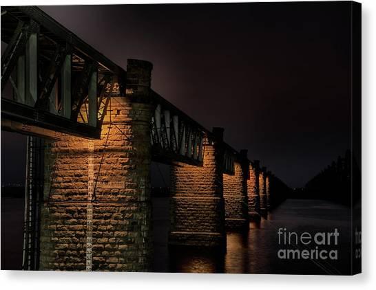 Bridge On Holy River Godavari Canvas Print