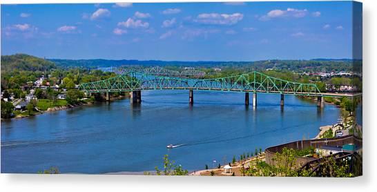 Bridge On The Ohio River Canvas Print