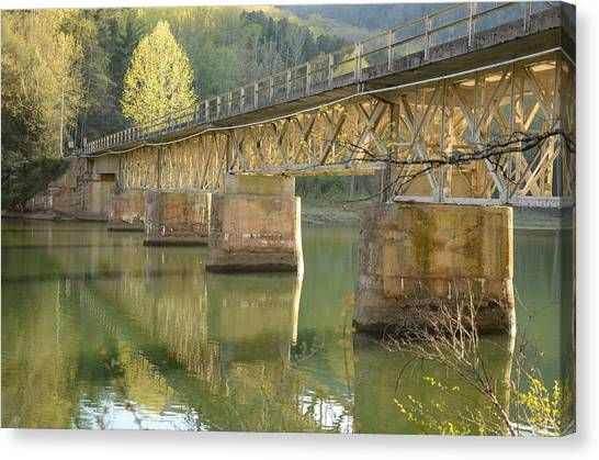 Bridge Over Calm Water Canvas Print