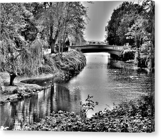 Bridge Over River Canvas Print