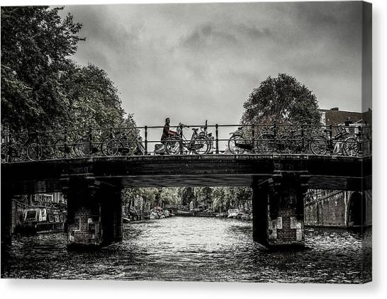 Bridge Over Still Water Canvas Print
