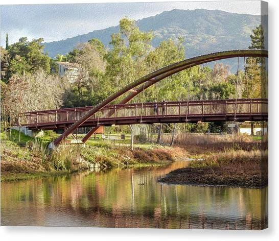 Bridge Over The Creek Canvas Print