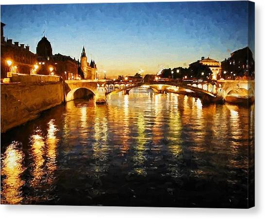 Bridge Over The Seine Canvas Print