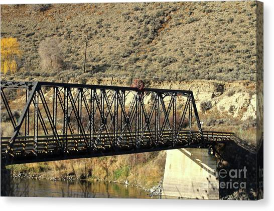 Bridge Over The Thompson Canvas Print