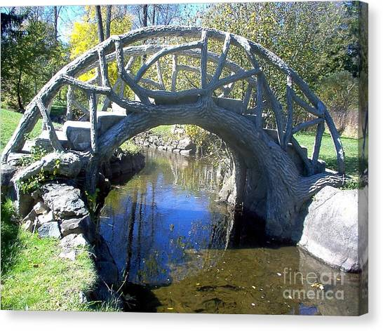 Bridge Park Canvas Print by Emily Kelley