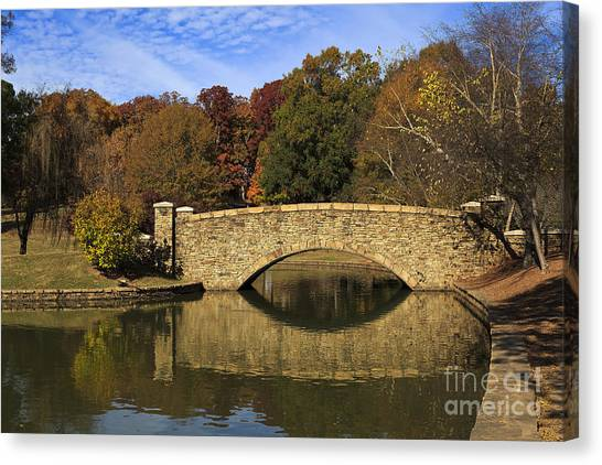 Bridge Reflection Canvas Print