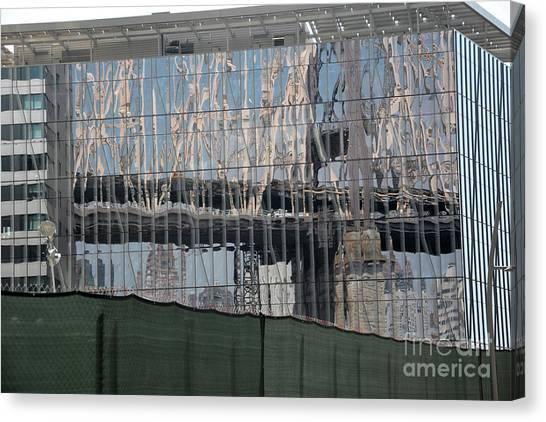 Bridge Reflections Canvas Print by Andrea Simon