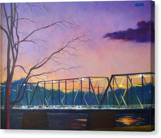 Bridge Sunset Canvas Print