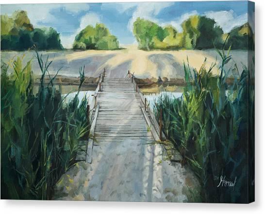Bridge To Beach Canvas Print