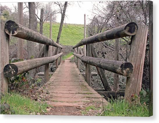 Bridge To E Canvas Print by M Ryan