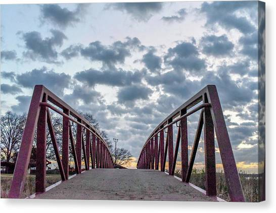Bridge To The Clouds Canvas Print