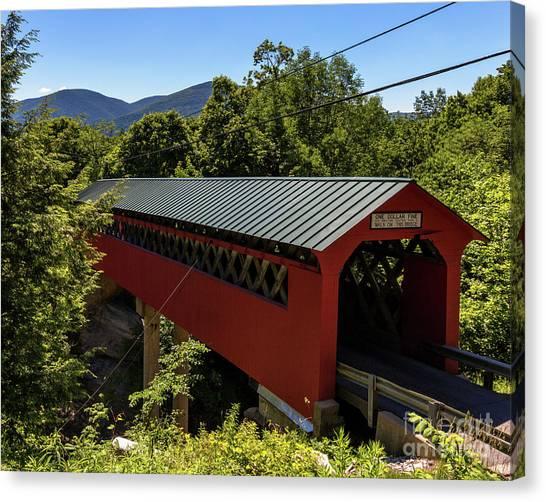 Bridge To The Mountains Canvas Print