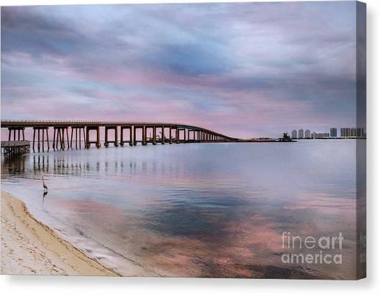 Bridge Under The Sunset Canvas Print