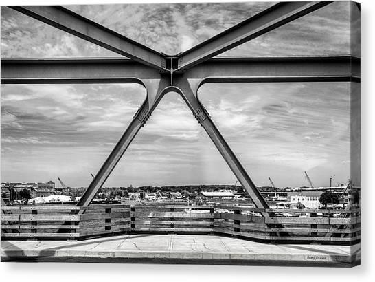 Bridge View In Portsmouth Nh Canvas Print