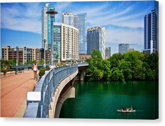 Bridge With A View Canvas Print