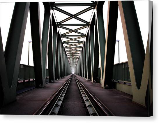 Metal Canvas Print - Bridge by Zoltan Toth