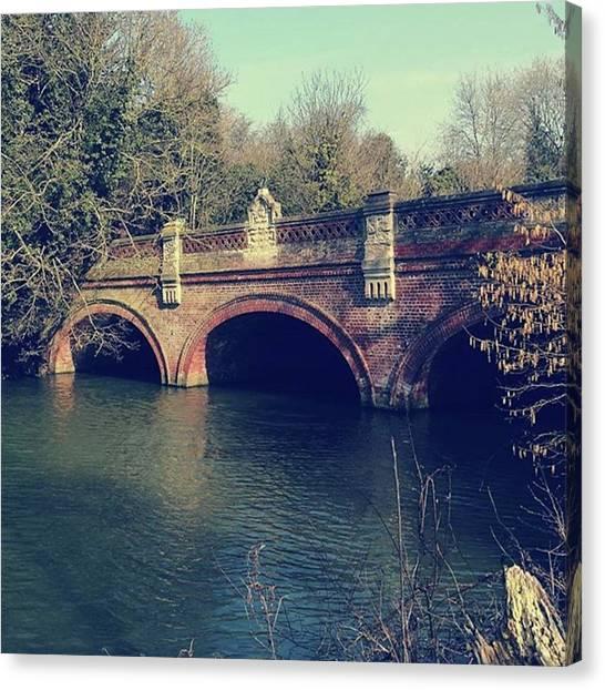 Warwickshire Canvas Print - Bridge. #bridge #jephsongardens by John S