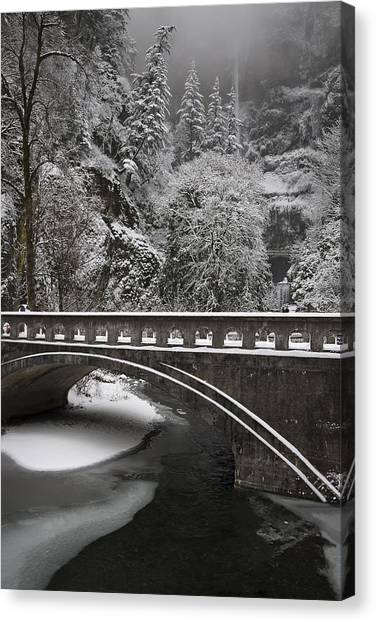 Bridges Of Multnomah Falls Canvas Print