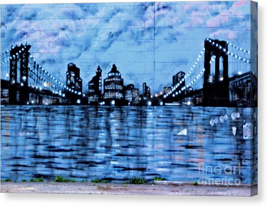 Bridges To New York Canvas Print