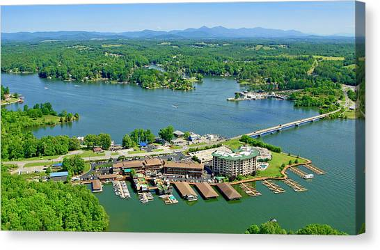 Bridgewater Plaza, Smith Mountain Lake, Virginia Canvas Print