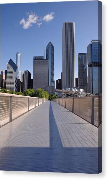 Chicago Skyline Art Canvas Print - Bridgeway To Chicago by Steve Gadomski