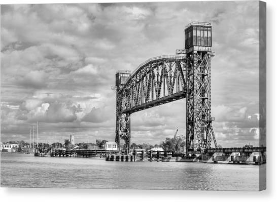 Atchafalaya Basin Canvas Print - Bridging The Atchafalaya In Black And White by JC Findley