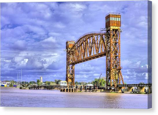 Atchafalaya Basin Canvas Print - Bridging The Atchafalaya  by JC Findley