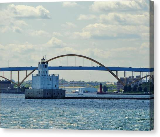 Canvas Print - Bridging The Milwaukee Harbor by Red Cross