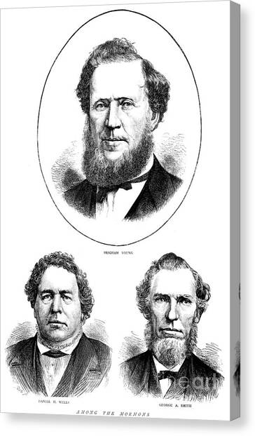 Independent Canvas Print - Brigham Young, Daniel H Wells, George A Smith by American School