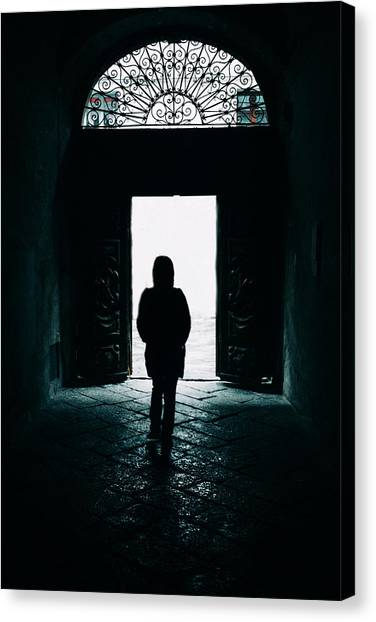 Bright Ancient Doorway Canvas Print