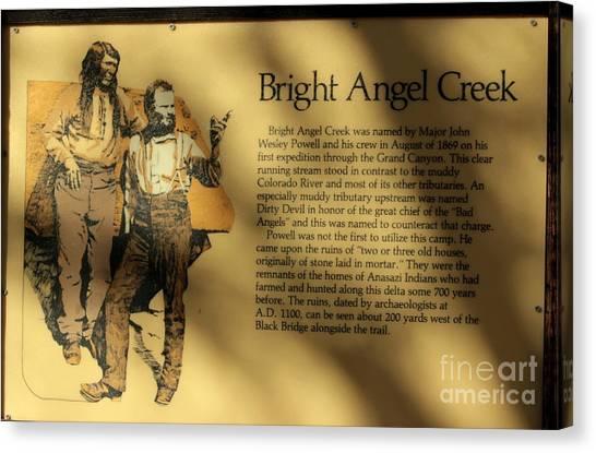 Brown Ranch Trail Canvas Print - Bright Angel Creek Phantom by Carol Komassa