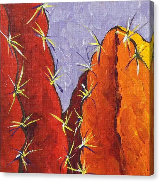 Bright Cactus Canvas Print