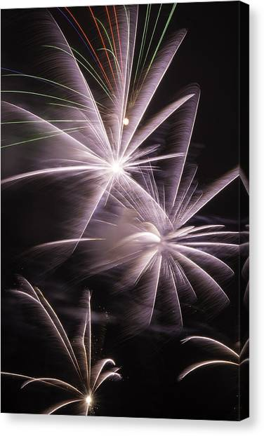 Pyrotechnics Canvas Print - Bright Fireworks by Garry Gay