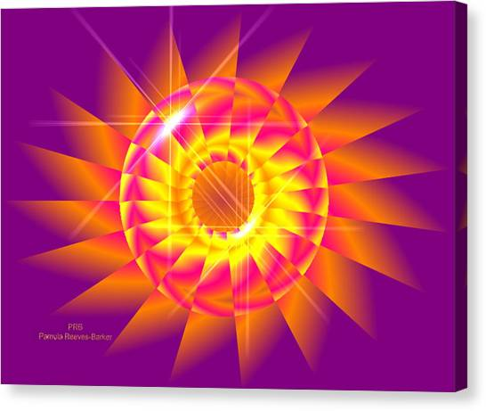 Canvas Print - Bright Flower by Pamula Reeves-Barker